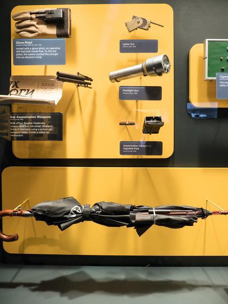 保加利亞前KGB特工用過、內藏槍口的長雨傘。