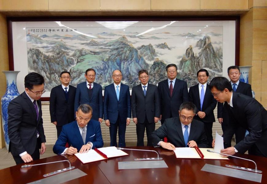 運房局與民航局週二在北京簽訂備忘錄《內地和香港特別行政區間航空運輸安排》。