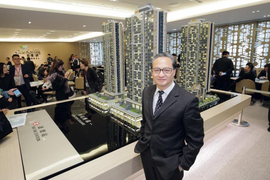 中國海外地產董事總經理游偉光指集團會積極考慮參予競投啟德區內新地皮。