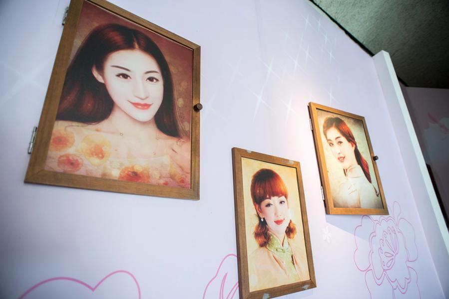 特約茶室復刻的姑娘樣貌相當有現代感,就像美女少們最愛美圖後變成的樣子。