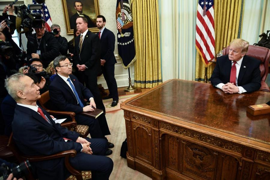 特朗普與劉鶴的會面只有輕微的突破。