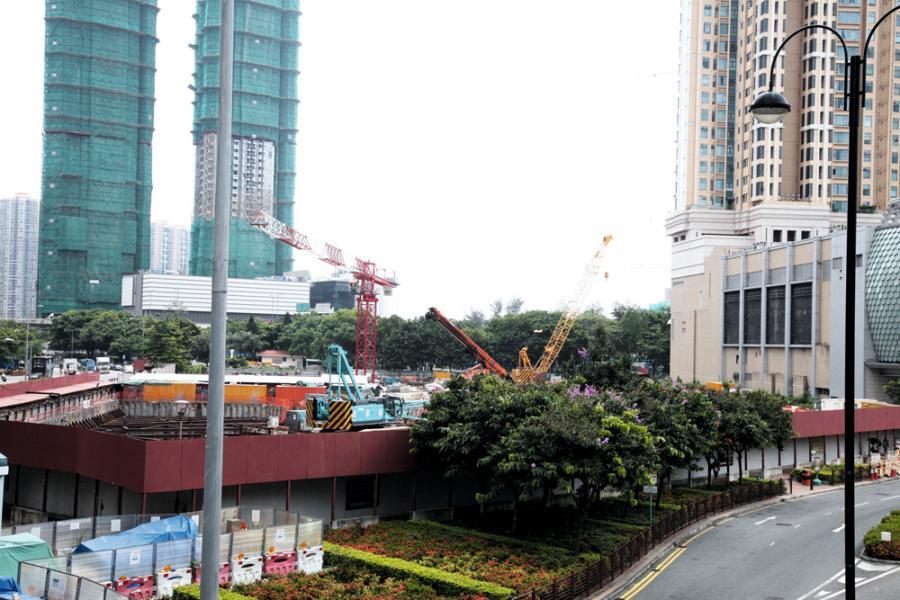 億京於荃灣楊屋道的用地,西邊地盤已放棄興建酒店的方案。