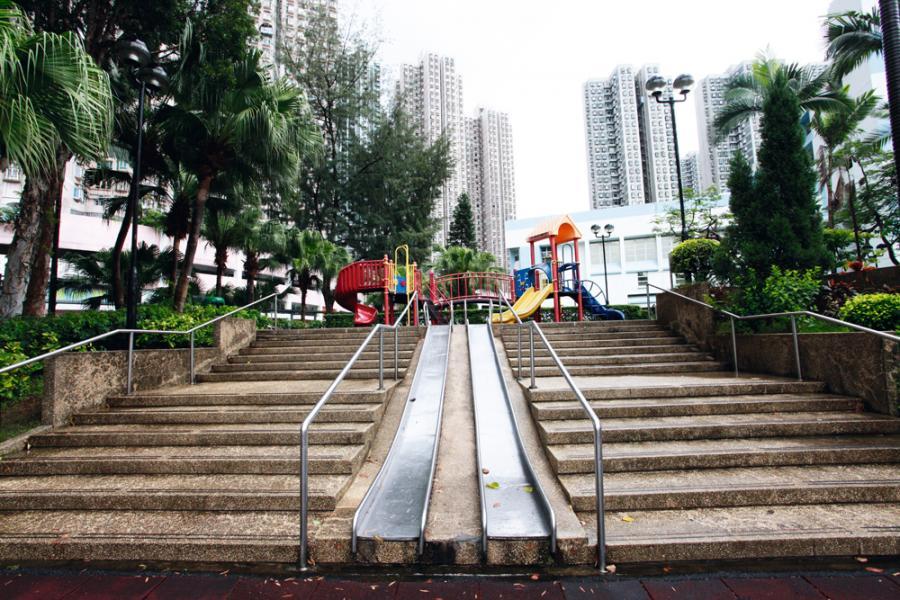 荃灣公園佔地達4.5公頃,康樂設施齊全。