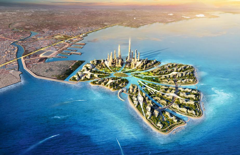 「新馬尼拉灣國際社區」是佔地407公頃的填海項目。