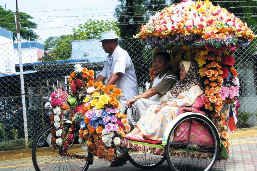 馬六甲位在馬來半島西南面,旅遊業是其中一大經濟支柱。