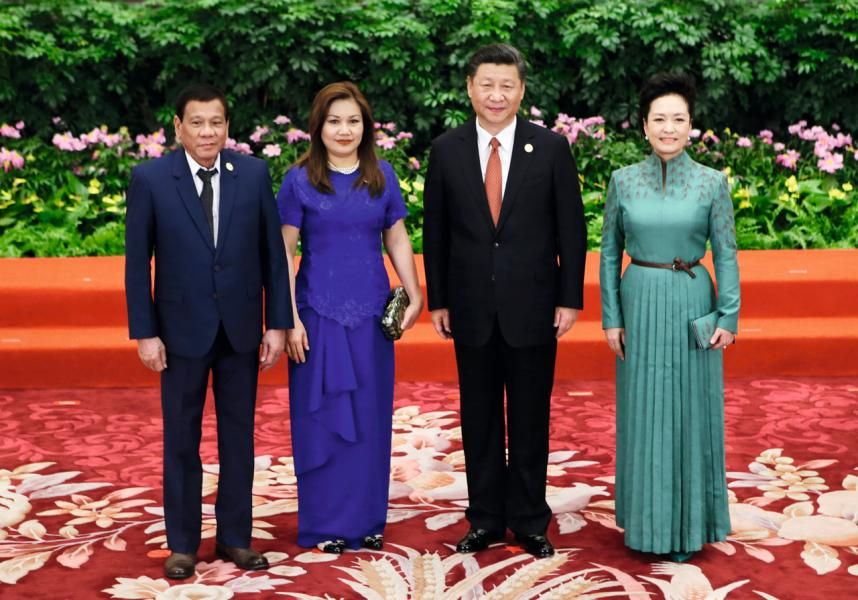 菲律賓總統杜特爾特上場後積極與中國修補關係。
