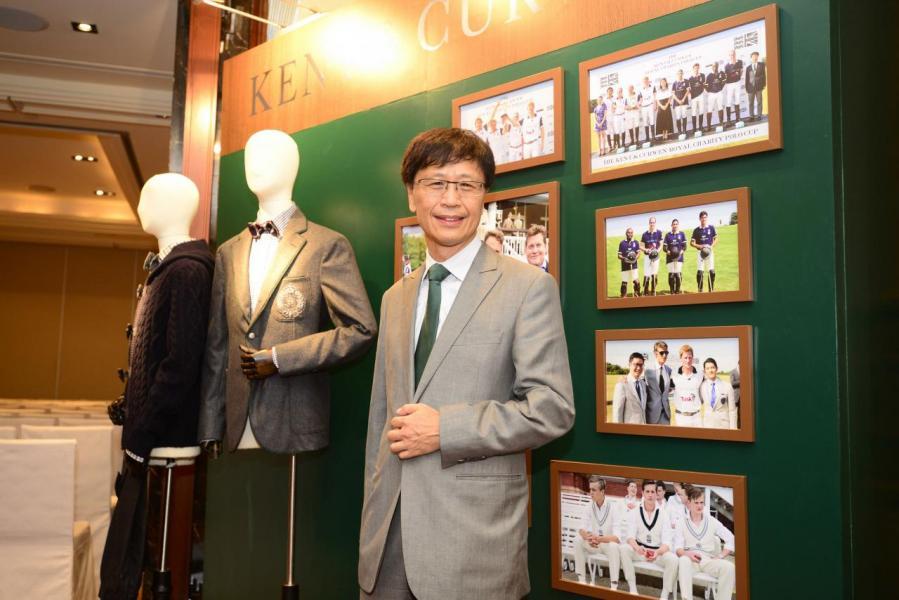 利邦旗下擁有多個知名男士服裝品牌,包括Kent & Curwen,圖為利邦前董事總經理王日明。