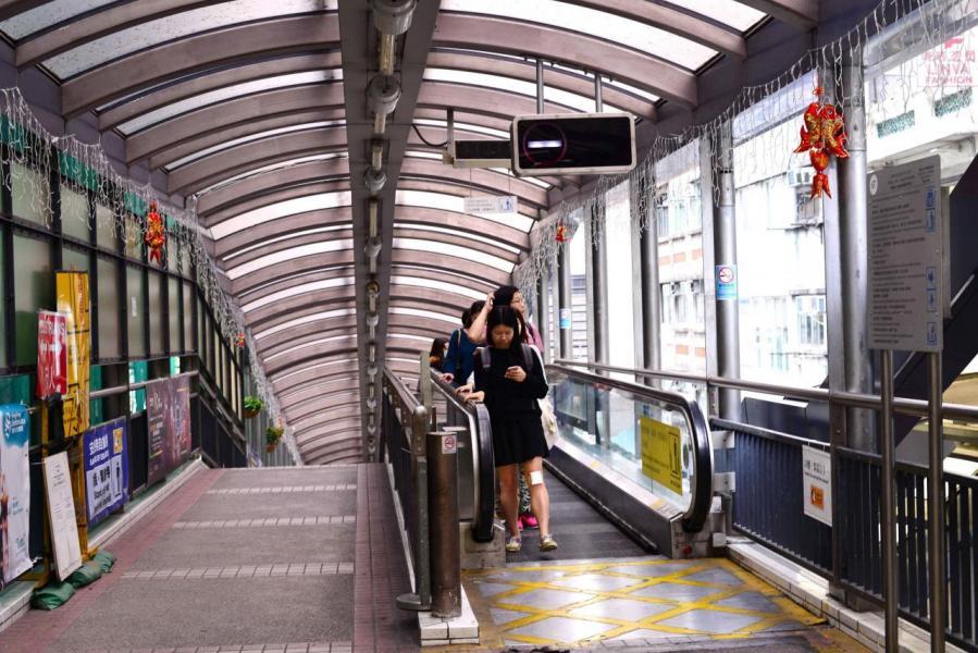 項目鄰近半山扶手電梯及卑利街一帶。