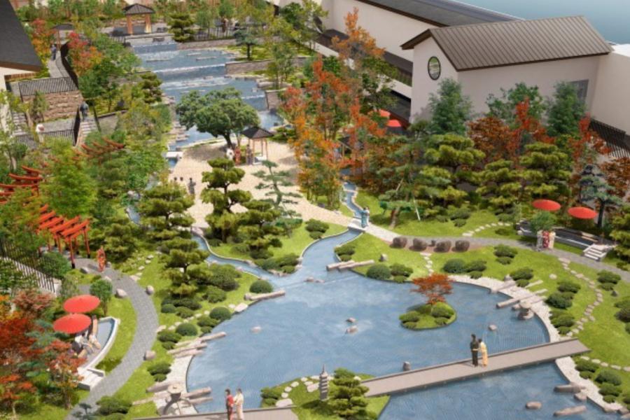 全新景點關西最大溫泉的樂園Soraniwa SPA空庭溫泉即將在2月26日開幕。