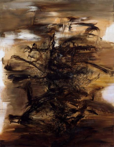 趙無極的《29.01.64》以202,600,000港元成交,刷新亞洲藝術家油畫作品的世界拍賣紀錄