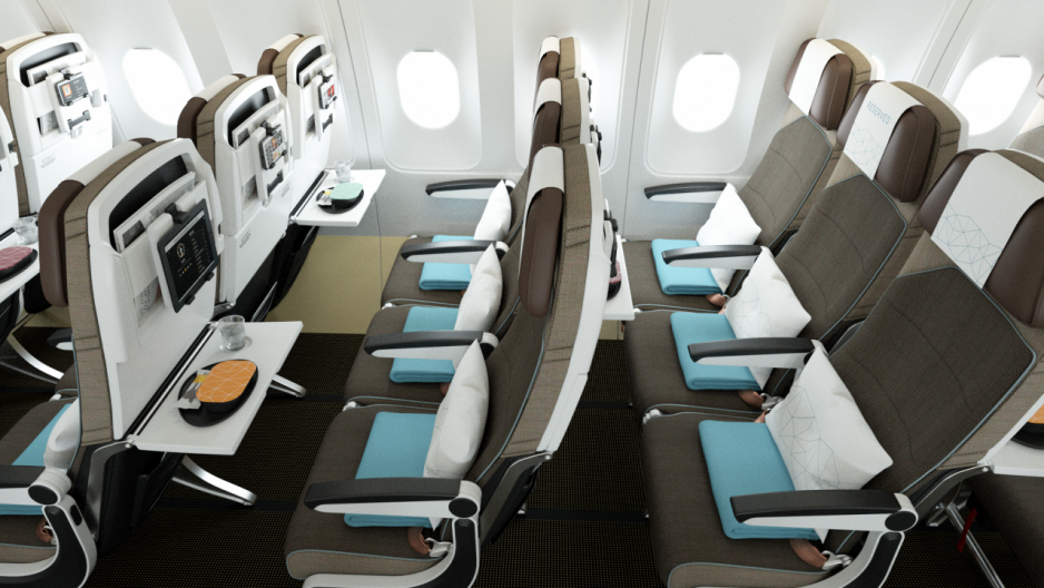 在阿提哈德航空寬體 Airbus 和寬體波音機隊的經濟艙中,各個座位椅背仍設有個人電視,讓乘客可以享受機上娛樂系統。