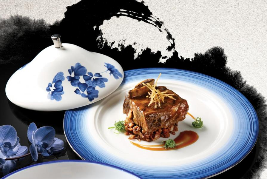 蔥香梅菜皇炆和牛肋骨:牛肉炆得軟稔入味,再加上梅菜的獨特鹹香,美味得讓人吃個不停!