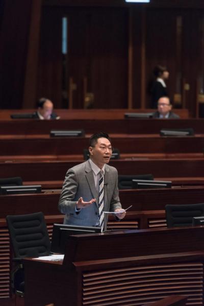 邵家輝希望透過議會反映業界的聲音。