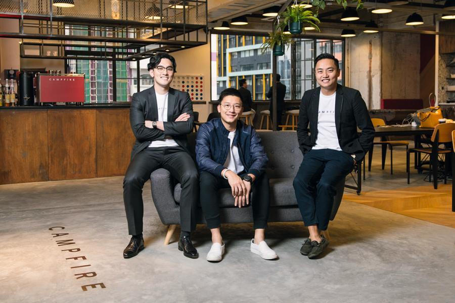 Campfire三位創辦人:(左起)馮文源、馮康及謝耀陞。