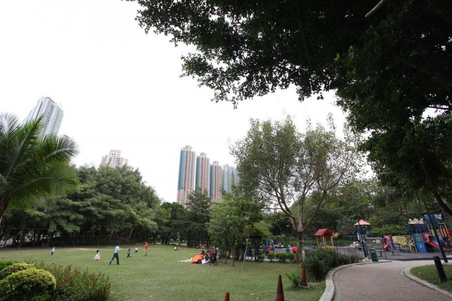 項目附近有南昌公園及大角咀市政大樓等休憩地方。