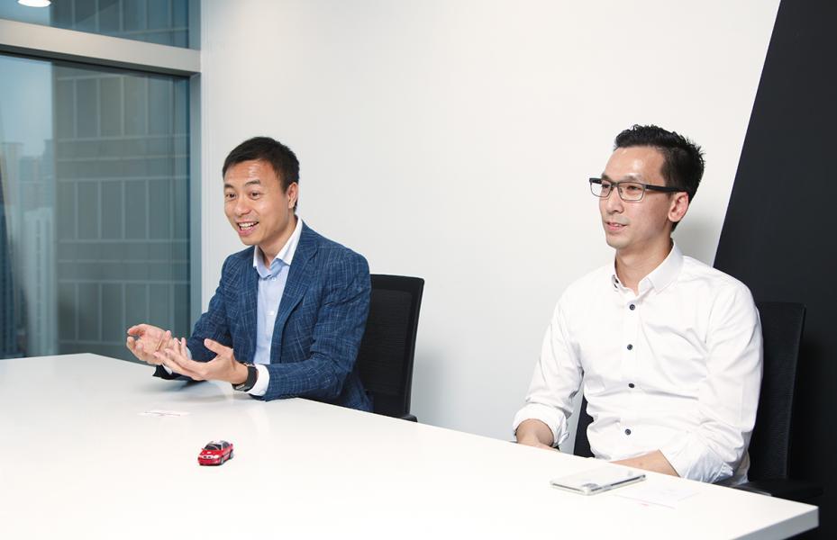 文立(左)與Kay Lui說,雙方的合作實屬無心插柳,想不到會產生意想不到的化學作用。