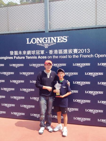 黃光耀父子同是網球運動的「發燒友」。