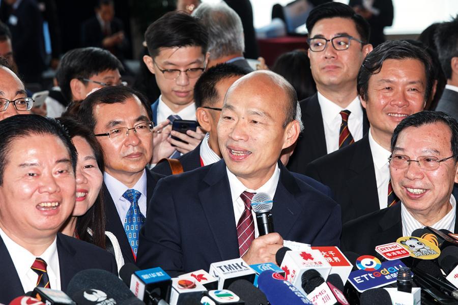 高雄市長韓國瑜上月訪問港澳及內地,大打經濟牌。