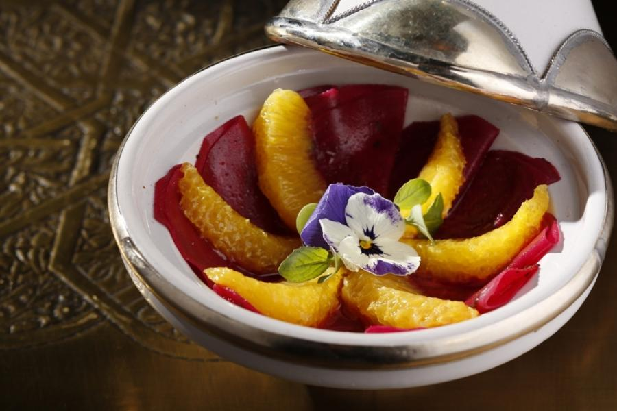 Carpaccio of beetroot and orange salad