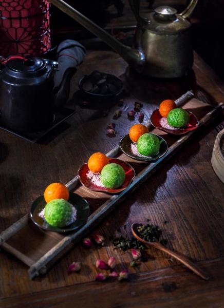 綠茶紫薯和朱古力柑桔