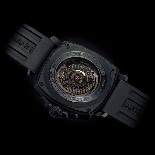 防眩光藍寶石水晶玻璃錶面和底蓋。