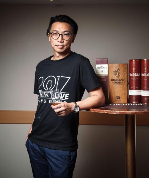 Whisky Live 2017主辦人黃國隆本身也是威士忌的愛好者。