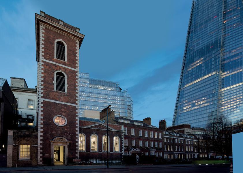 位於倫敦的都爹利會館,原址是一間18世紀的舊教堂。