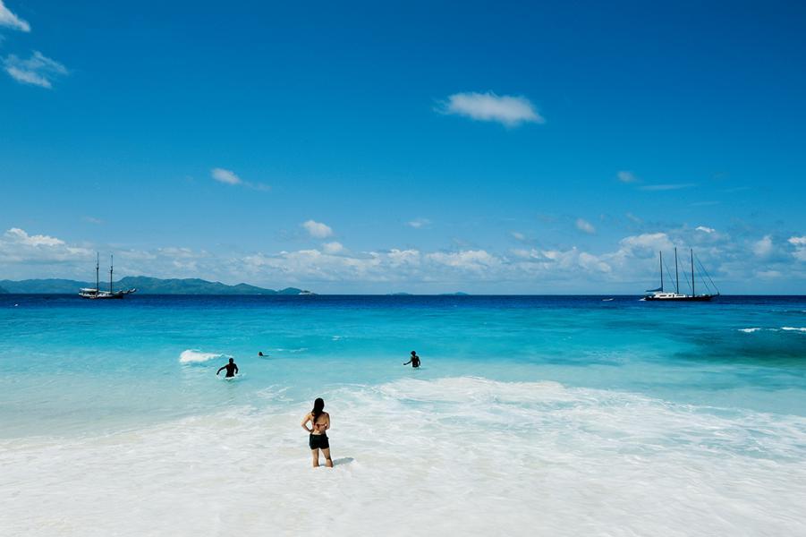 到訪塞舌爾,就是享受陽光與海灘。