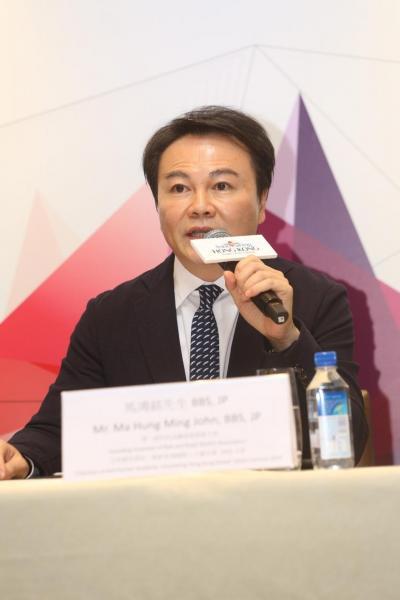 一帶一路科技金融協會創會主席、友邦精英學院:創新香港國際人才嘉年華2019主席馬鴻銘。