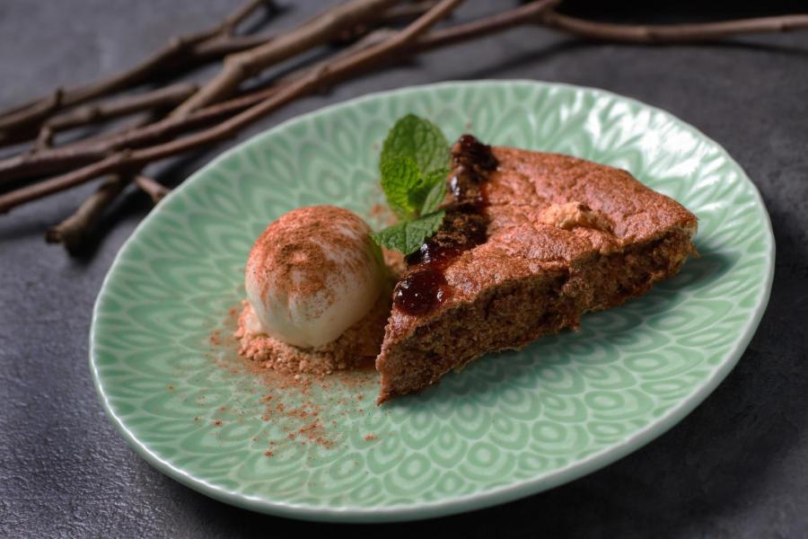 肉桂海綿蛋糕:源自葡萄牙南部的傳統甜點,蛋糕甜度適中,而且質感富有彈性。