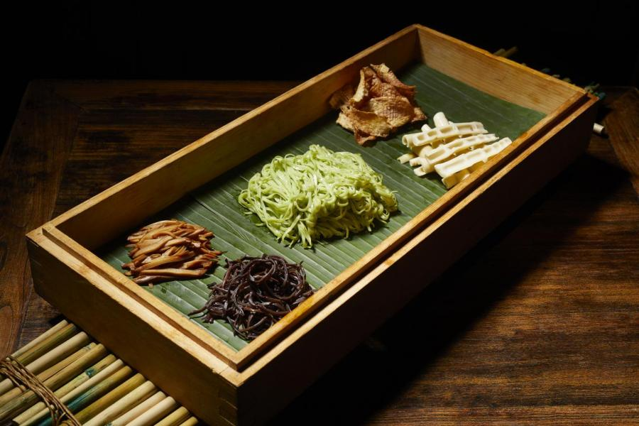 小竹筍冷麵拌胡麻醬