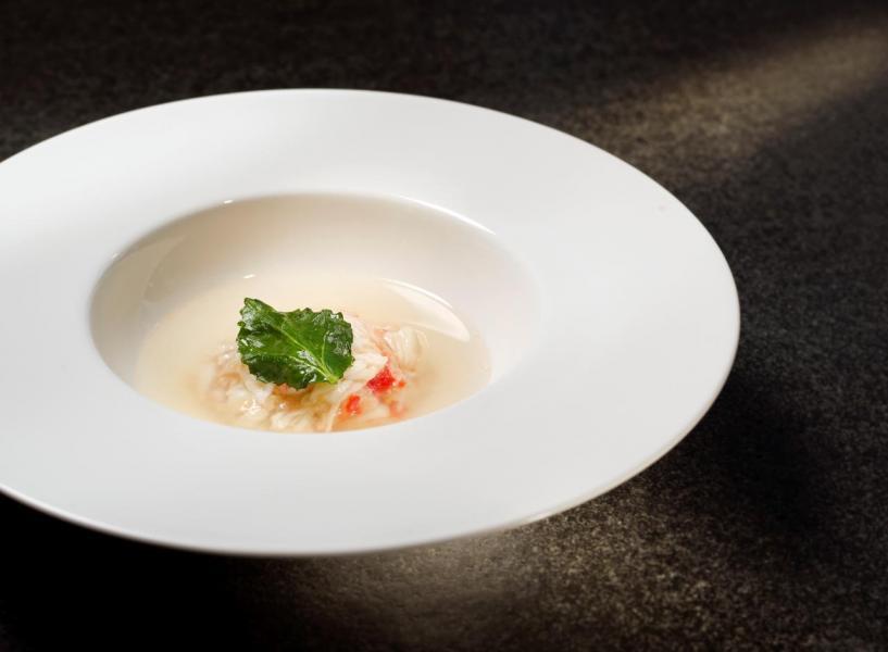 鮮蟹肉清湯
