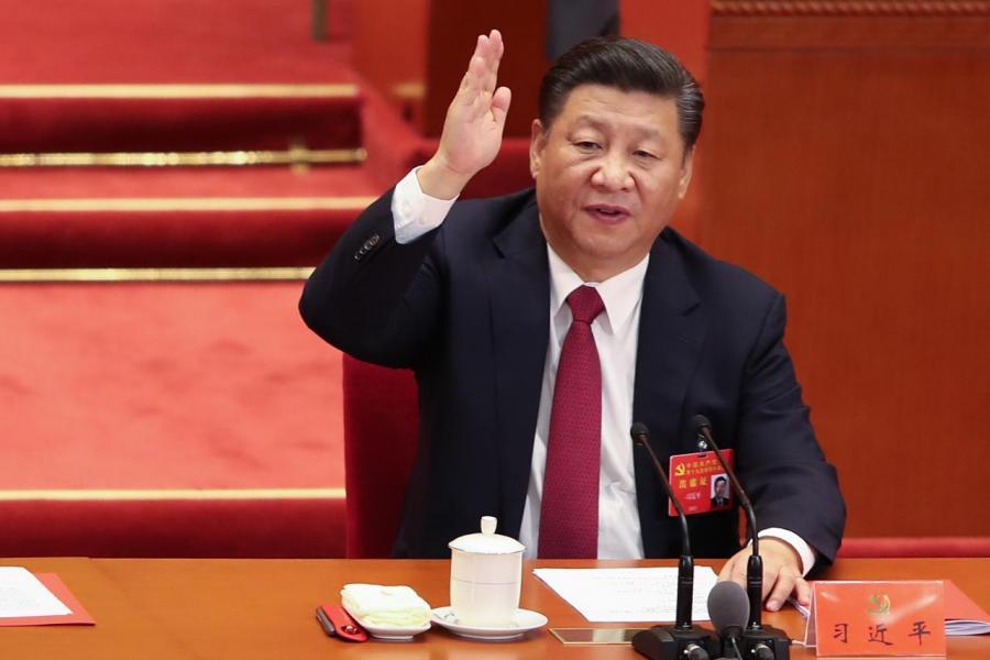 十九大中議會中人一致投票同意將「習近平新時代中國特色社會主義思想」寫入黨章。