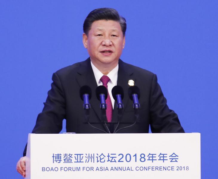 國家主席習近平表明,中國開放的大門不會關閉,只會愈開愈大。