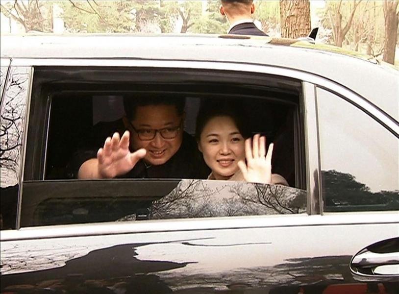 金正恩早前與妻子李雪主秘密出訪北京。