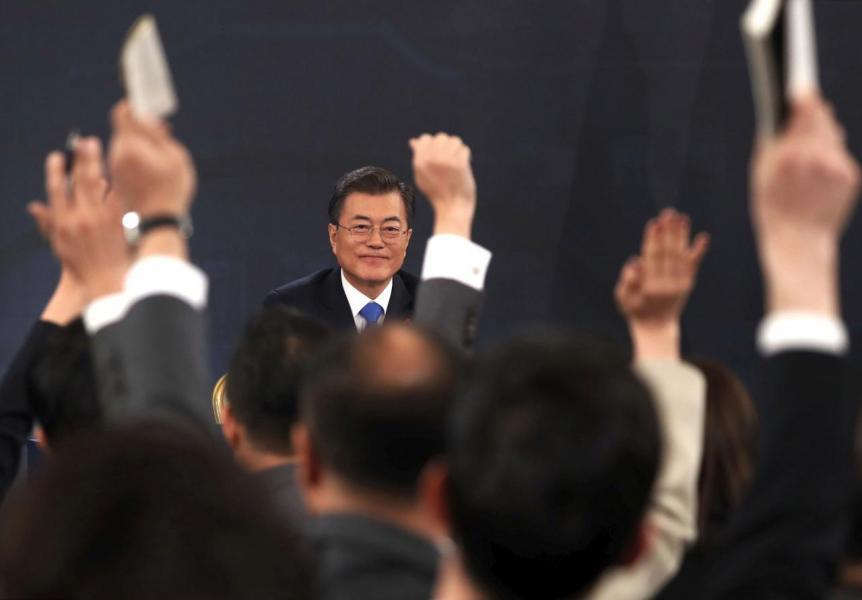 文在寅希望兩韓峰會可以達終戰協議。