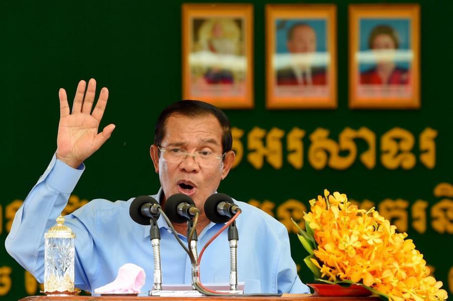 今年柬埔寨與中國已定下60億美元雙邊貿易交易額目標。圖為柬國首相洪森。