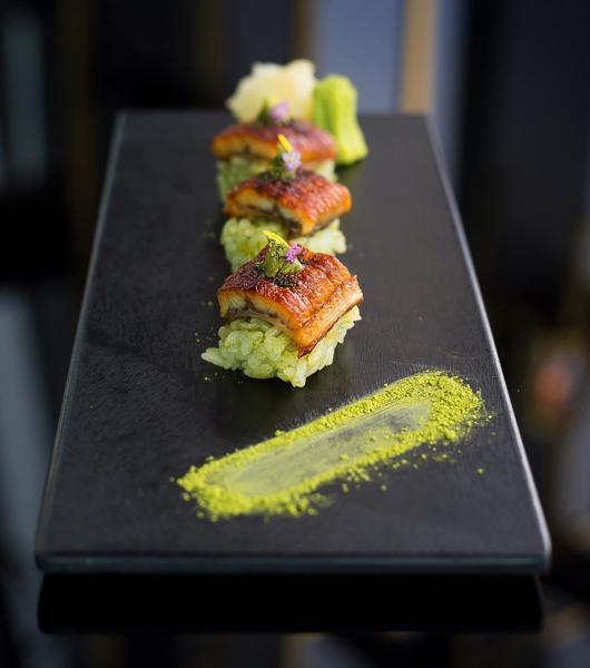 白麵豉燒鰻魚抹茶壽司