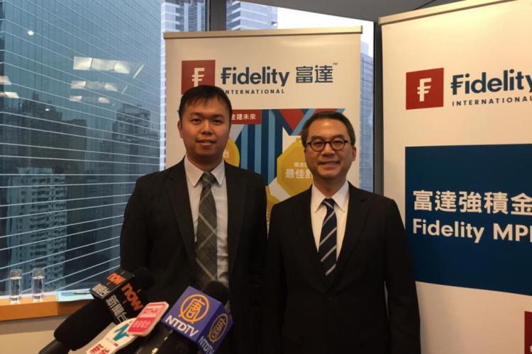 富達國際香港退休金業務總監陸劍平(右)及富達國際亞洲機構業務(日本除外)投資策略董事簡立恆(左)。